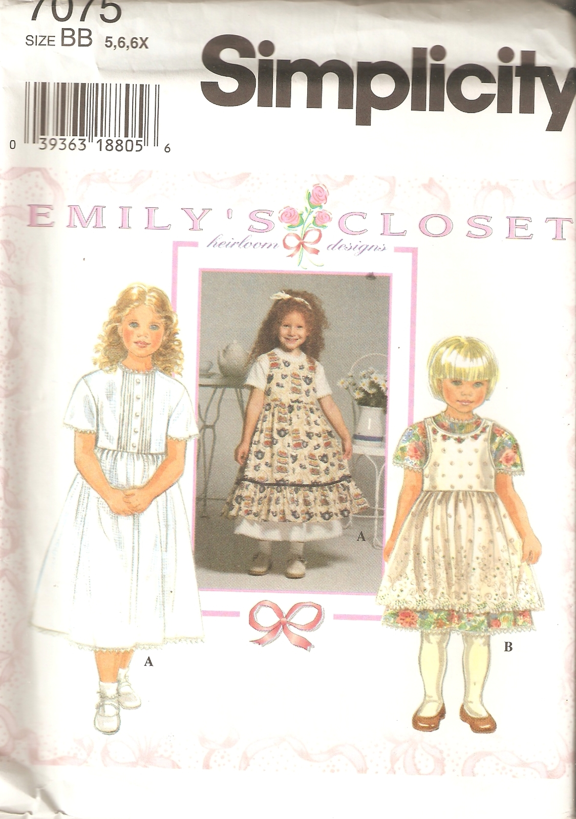 Simplicity 7075 Sewing Pattern: 1 listing