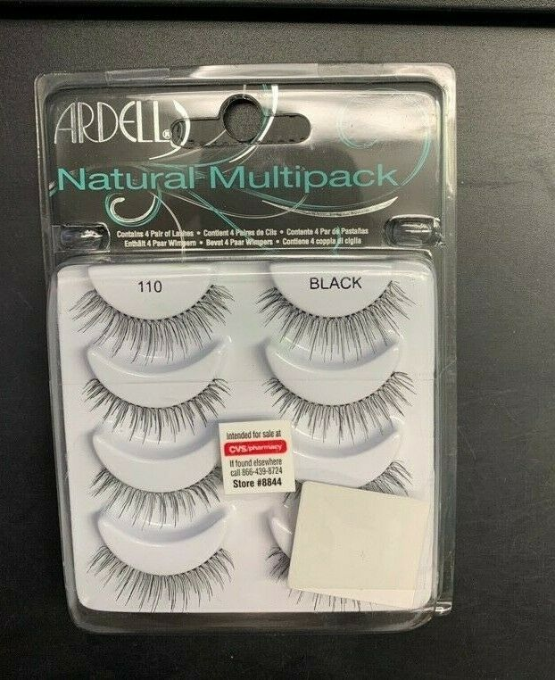 Primary image for 4 Pairs Ardell Natural Eye Multipack Eyelashes #110 Black