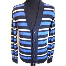 Pre-owned Armani Mens Striped Cardigan Sweater Size M F-0010600 - $49.99