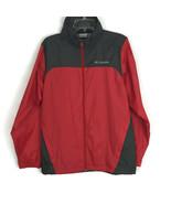 Columbia Womens Jacket Size S Small Red Gray Rain Jacket Long Sleeve Wat... - $30.36