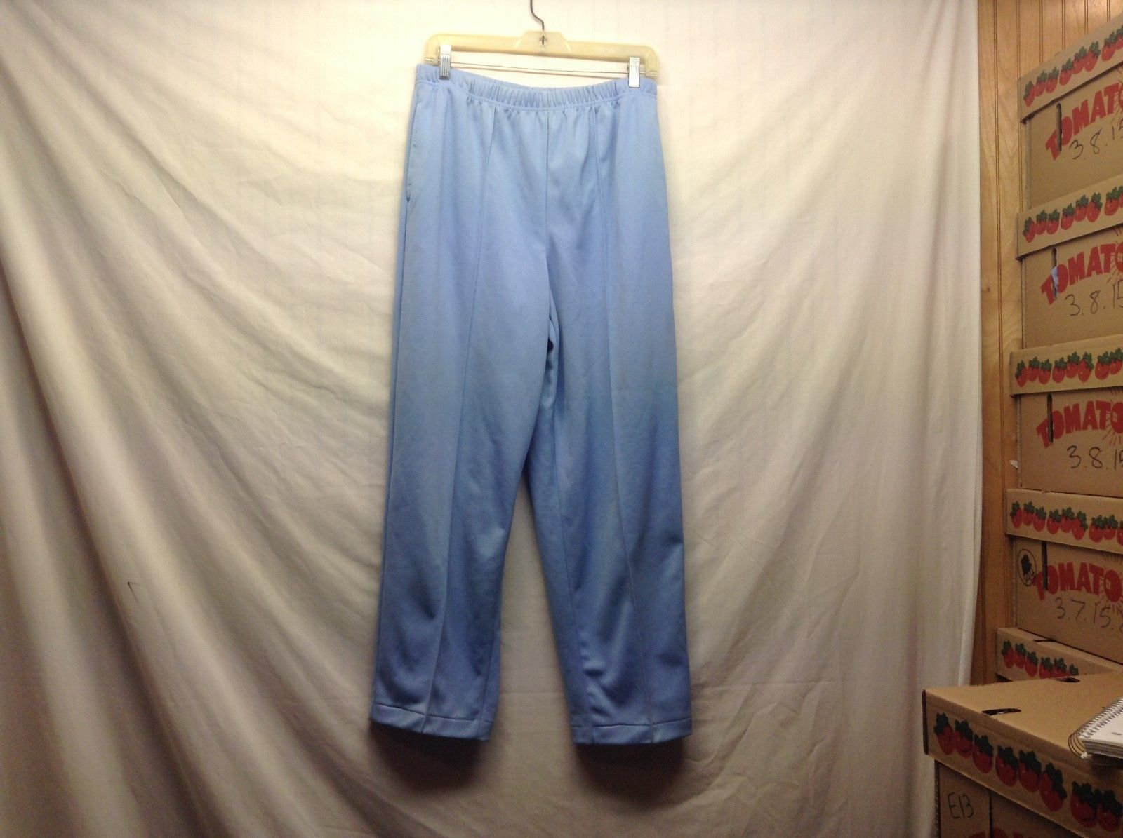Blair Ladies light Blue Stretchy Casual Pants Sz 12PT