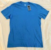 NWT Alfani Men's Blue Crest Basic T-Shirt Short Sleeve Tee Crew Neck Cot... - $7.99