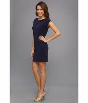 Lilly Pulitzer Sz M Robyn Sleeveless Shift Dress True Navy 6 Gold Buttons EUC image 6