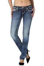 NEW ROCK REVIVAL WOMEN'S PREMIUM STRAIGHT CUT DENIM JEANS PANTS MINH J size 25