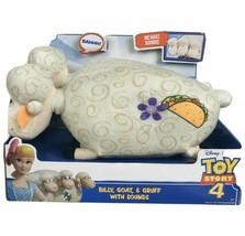 Disney Pixar Toy Story 4 Billy Goat Gruff Talking Plush Sheep New in Box - $20.78