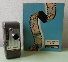 Vintage 1950s 1960s Bell and Howell 8mm Magazine Movie Camera Model 172 ... - $24.99