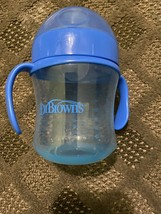 DR. BROWNS SIPPY CUP Blue Flip Top, Preowned Sterilized In Excellent Con... - $4.75