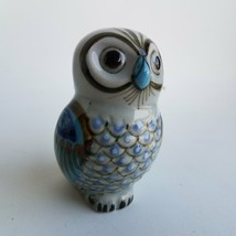 Painted Owl Figurine Home Decor Paperweight - $10.66