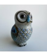 Painted Owl Figurine Home Decor Paperweight - $5.22