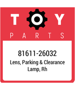 81611-26032 Toyota Clearance Lamp Lens, New Genuine OEM Part - $69.59