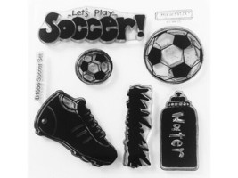 Close to My Heart Soccer Set Clear Acrylic Stamp Set #B1056