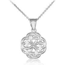 925 Silver Sterling Trinity Knot Charm Pendant Necklace - €17,12 EUR+