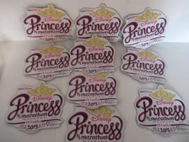 Lot 10 Disney Princesse Demi 1/2Marathon 21.1km Voiture Aimant 2015 - $16.85