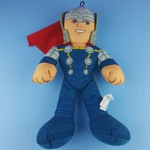 "Marvel Avengers Assemble Thor Plush 14"" Stuffed Doll Cape Blonde  - $15.84"