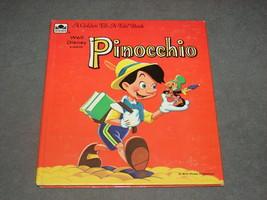 Golden Tell-A-Tale Book: Pinocchio Walt Disney [NICE] - $8.00