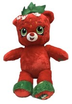 Build A Bear Shopkins Large Plush Strawberry Kiss Teddy Bear Stuffed Ani... - $34.64
