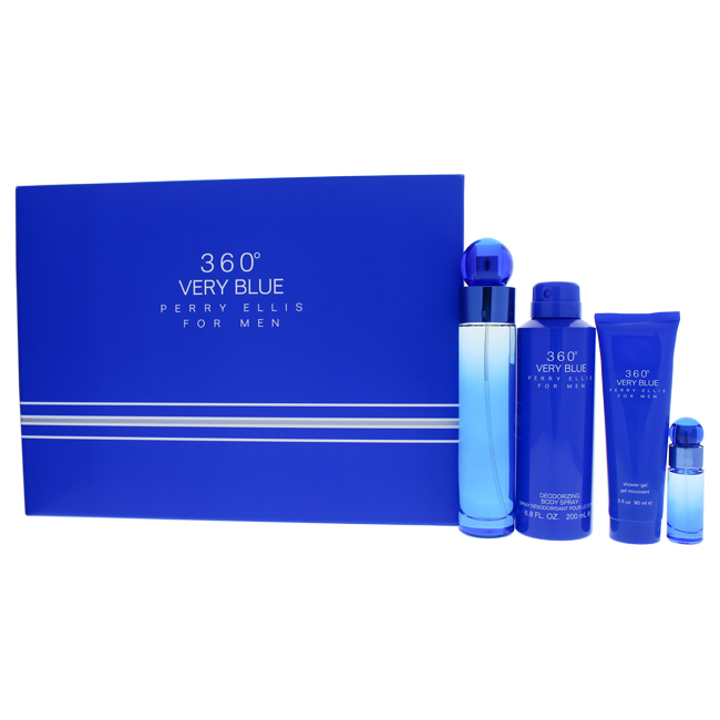 Primary image for Perry Ellis 360 Very Blue 4  Pc Gift Set