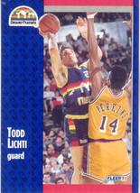 Todd Lichti ~ 1991-92 Fleer #51 ~ Nuggets - $0.05