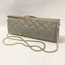 Dalila Purse Clutch Quilted Silver Wire Mesh Handmade Shoulder Evening B... - $300.00