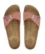 Birkenstock Women Madrid Brushed Flamingo Pink Vegan Narrow Flat Sandals... - £71.00 GBP