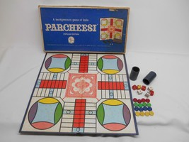 Old Vtg 1959/67 Selchow & Righter PARCHEESI POPULAR EDITION #110 GAME CO... - $29.69