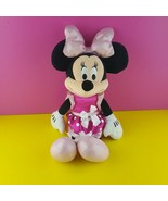 "Disney Just Play Plush Minnie Mouse Doll 16"" Stuffed Lights Sounds Giggl... - $23.76"