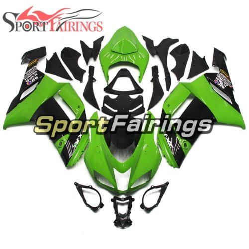 Complete Green Black Body Frame For Kawasaki 2007 2008 ZX-6R Injection Fairings
