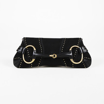 Gucci Studded Suede Horsebit Clutch - $583.29 CAD
