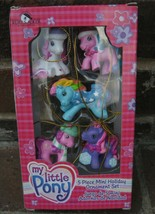 My Little Pony Mini Christmas Ornament Set Kurt Adler 2004 5 Piece Hat N... - $25.19