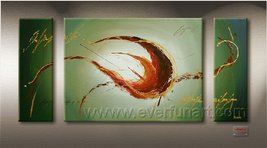 Hand-painted Wall Decor Art Modern Abstract Oil... - $85.98