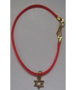 Freebie with purchase Red string bracelet w golden Magen star of David k... - $0.00