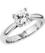 Round Diamond Solitaire Engagement Ring 1 Ct G SI2 EGL - $3,320.14