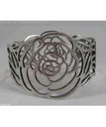 Silver Cut Out Rose Bracelet (Spring Loaded) - $16.95
