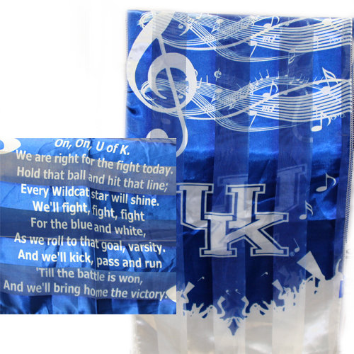 Kentucky Wildcats Polyester Licensed Ncaa Fight Song Scarf