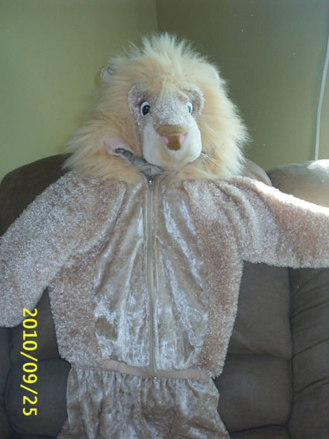 2-Pc LION COSTUME by CELEBRATION HALLOWEEN~Sz 24 Months~Poly