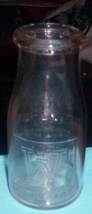 Vintage Woodlawn Farn Company half pint glass bottle - $8.00