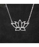 Sterling Silver Buddhist Elements Lotus Flower Necklaces & Pendants - $17.35
