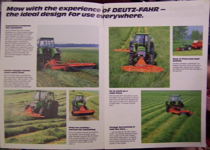 Deutz-Fahr SM30, SM40, SM40F, SM40CR, SM50, SM50F Disc Mowers Brochure - 1984