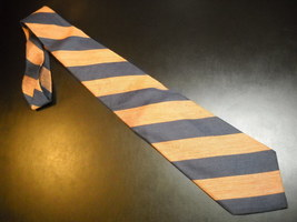 Joseph Abboud Neck Tie Diagonal Stripes Browns Blues Imported Silk Made in USA - $12.99