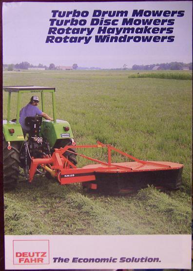 Deutz-Fahr Drum Mowers, Disc Mowers, Tedders Brochure - 1983