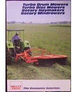 Deutz-Fahr Drum Mowers, Disc Mowers, Tedders Brochure - 1983 - $8.00