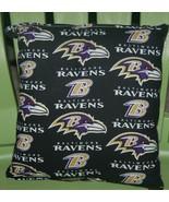 Ravens Pillow NFL Pillow Baltimore Pillow Football Pillow HANDMADE In USA - $11.96