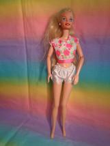Vintage 1999 Mattel Blonde Hair Barbie Doll Pink Floral Top White Undies - as is - $6.50