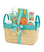Bath Set - Coconut Lime Tropical - Tan Basket - $24.95