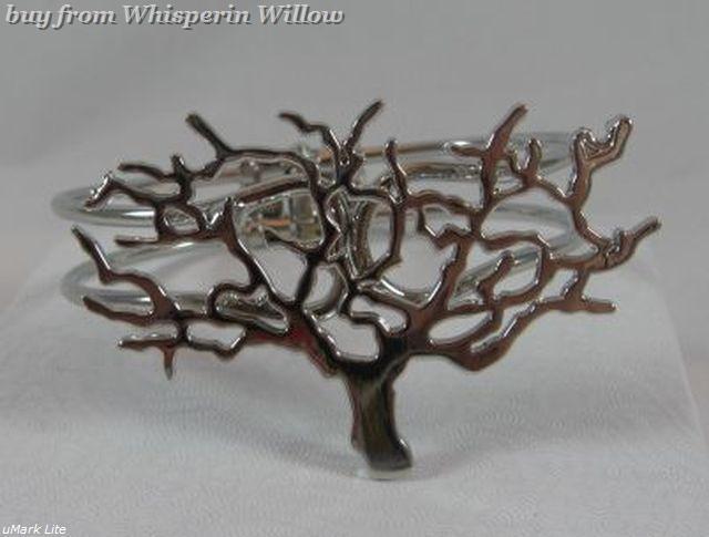 Silver cut out wondering tree bracelet 1
