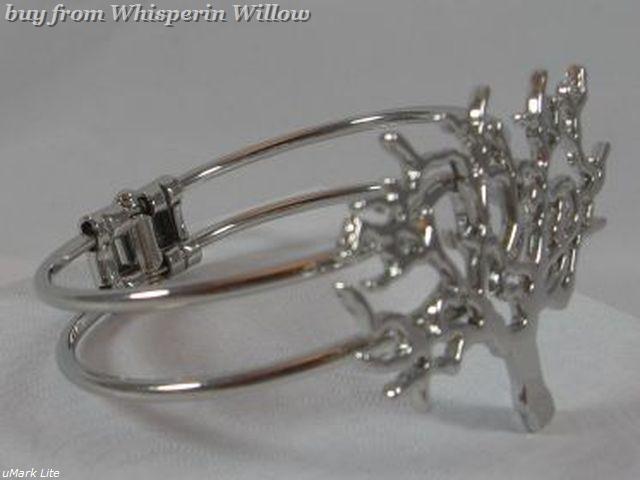 Silver Wandering Tree Bracelet (Spring Loaded)