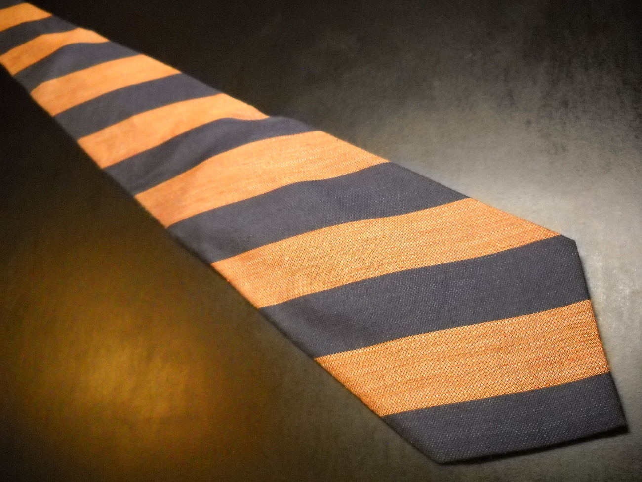 Joseph Abboud Neck Tie Diagonal Stripes Browns Blues Imported Silk Made in USA