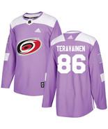 teravainen men s carolina hurricanes authentic fights cancer practice jersey   purple thumbtall