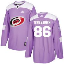 NHL Teuvo Teravainen Men's Carolina Hurricanes Fights Cancer Jersey - Pu... - €55,91 EUR