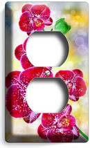 SPOTTED TROPICAL ORCHID FLOWERS OUTLET WALL PLATES FLORAL BEDROOM ROOM A... - $9.99